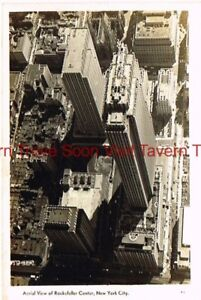 Unused-1940s-Arial-View-of-Rockefeller-Center-New-York-City-RPPC