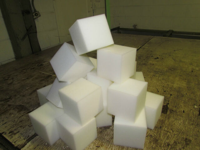 "(4) boxes Foam Rubber 6"" squares/cubes used for Gymnastic pits"
