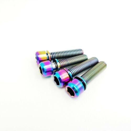 4*Titanium Ti M6x20 M6x25 M6X30mm Screws Allen Hex Socket Head Bike Bolts Washer