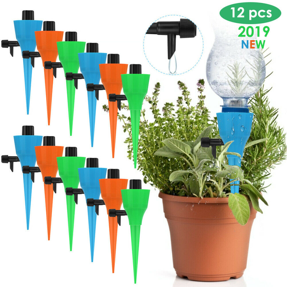 12pcs Plants Watering Devices Constant Pressure Slow Release Self-watering Spike