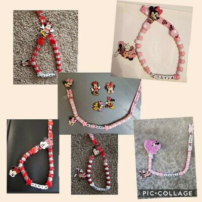 **MICKEY MOUSE** PERSONALISED DUMMY CLIP  *FREE MAM RING* READ FULL DESCRIPTION!