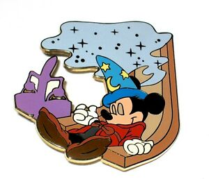 Le Disney Auction Pin Classic Film Fantasia Mickey Mouse Sorcerer Hat Sleeping Ebay