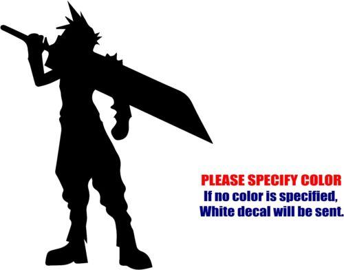 "Final Fantasy VII 7 CLOUD Car Truck Bumper Window Fun 7/"" Vinyl Decal Sticker"