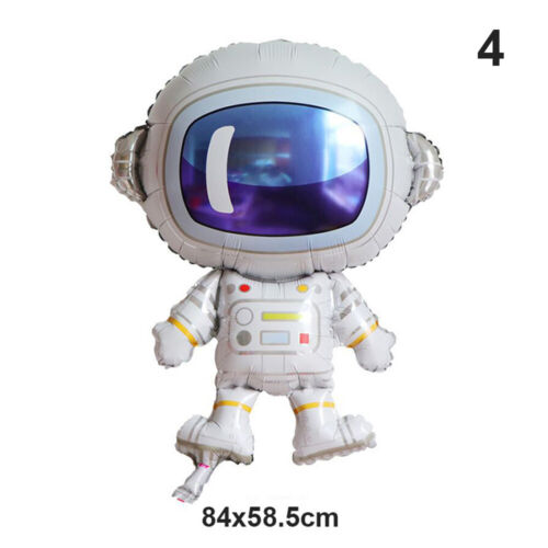 Planet Astronaut Foil Balloons Theme Party Supply Outer Space Galaxy Banner