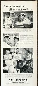 ORIGINAL-1940-Sal-Hepatica-Laxative-Print-Ad-Admiral-039-s-Ball