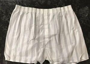 6e753d90e289 Vintage Boxer Shorts NOS 60s 70s Cotton Poly White Gray Striped Sz ...