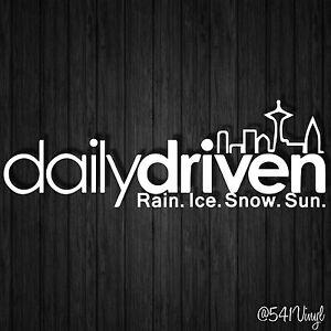 Details about Daily Driven Seattle Vinyl 9