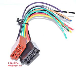 Autoradio-DIN-ISO-Kabel-Strom-Lautsprecher-16Pin-VOLL-belegt-GALA-CAN-BUS
