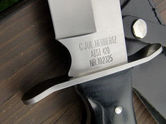 NEU NEU NEU - HERBERTZ - Jagdmesser - Bowie-Messer + Lederscheide - Pakkaholz -102325 dd1ac9