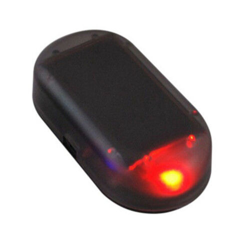 FAUSSE ALARME VOITURE GARAGE CLIGNOTANT LED ROUGE SOLAIRE