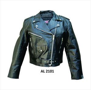 Motorcykel Classic Jacket Leather Biker Black Ladies gqftxFn