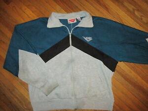 à Condition De Vintage Années 80 90 Queue De Cheval Veste Survêtement Pull Warmup Géométrique