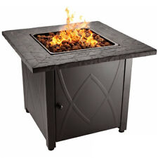 Blue Rhino Endless Summer Outdoor Propane Gas Lava Rock Patio Fire Pit, Brown