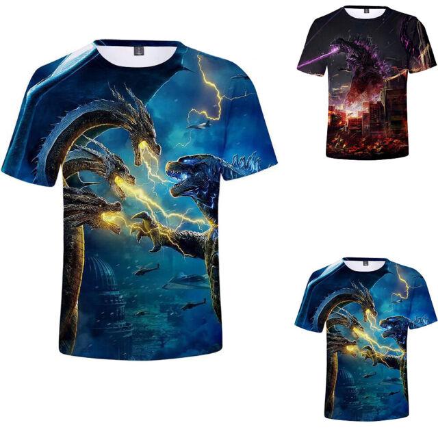 Godzilla Jungen Mädchen Kinder Kurzarm T-shirt 3D Pringting Party Clothing