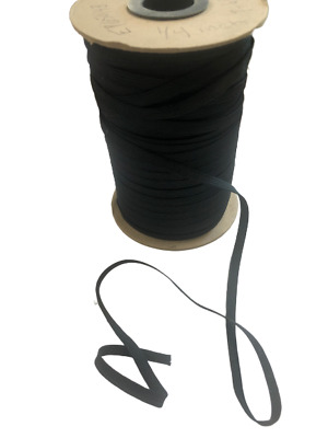 Thin 1 4 Inch Elastic Band For Face Mask 8 Yards In Black String