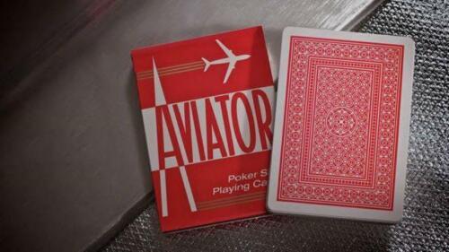 1 Red Decks Of Bicycle Aviator Standard Index Poker Casino Magic Playing Cards