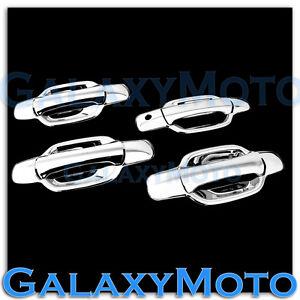 05-12-GMC-Canyon-Triple-Chrome-Plated-ABS-4-Door-Handle-W-O-PSG-Keyhole-Cover