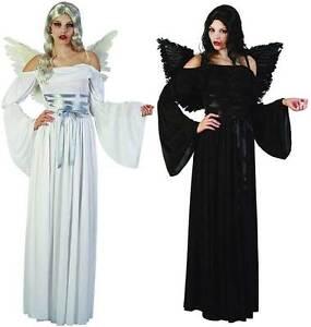 FALLEN DARK ANGEL BLACK DEVIL / WHITE XMAS GHOST ANGEL HALLOWEEN ...