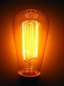 Rustika Deko Glühlampe 60W VIELFACHWENDEL , leuchtet ähnlich wie Kohlefadenlampe - Unna, Deutschland - Rustika Deko Glühlampe 60W VIELFACHWENDEL , leuchtet ähnlich wie Kohlefadenlampe - Unna, Deutschland