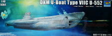 1/48th scale WWII DKM U-Boat Type VIIC U-552 model kit by Trumpeter - 06801