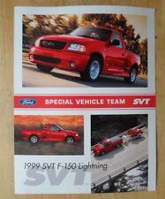 FORD F-150 LIGHTNING orig 1999 USA Mkt Sales Leaflet Brochure - SVT