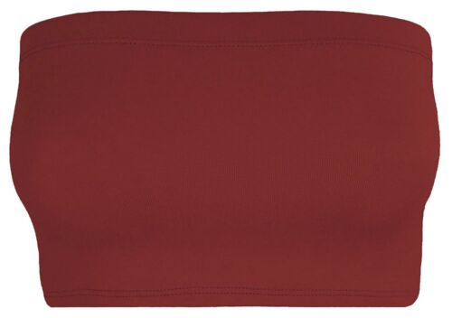 Femme Bustier Plain Boob Tube Extensible Soutien-gorge Femmes Bandeau Crop Vest Bra Top