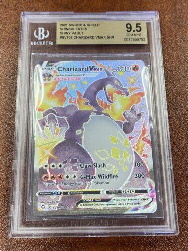 Pokemon Shining Fates Charizard VMax Gem MintBGS 9.5