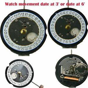 Ronda-505-Quartz-Montre-Mouvement-Date-At-3-039-Date-at-6-039-3-Pin-Watch-Repair-Parts