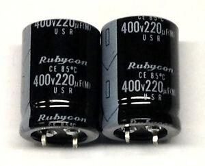2-Stueck-Elkos-Rubycon-220-F-400-V-radial-M7522