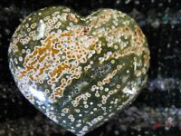 POPPIN MULTI RUNG ORBS OCEAN JASPER HEART SCULPTURE DISPLAY 3406