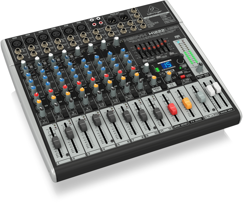 Behringer X1222USB Xenyx 16-Input 2 2-Bus Mixer with USB Audio Interface