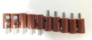10-Stecker-BRAUN-z-B-fuer-Maerklin-H0-Modellbahn-oder-N-TT-etc