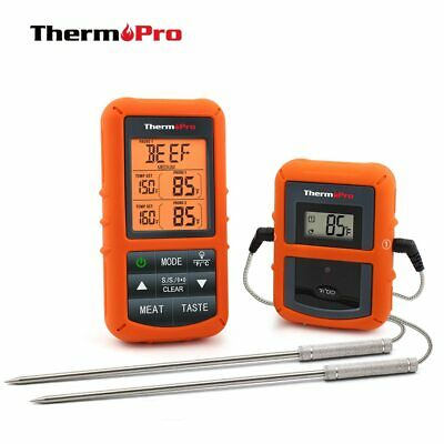 Thermopro Tp-20 Remote Wireless Digital Bbq Oven Thermometer Home Use Stainless Aspetto Attraente