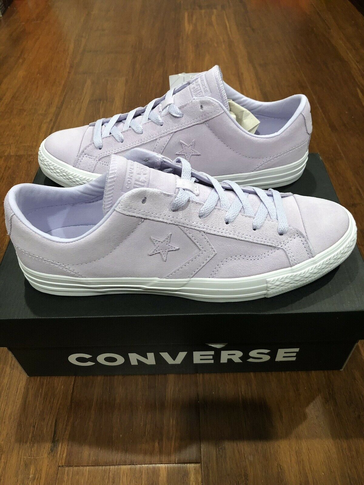 Converse Chuck Star Player Ox Purple White Suede Sz 6 Mens 8 Women's 162661C