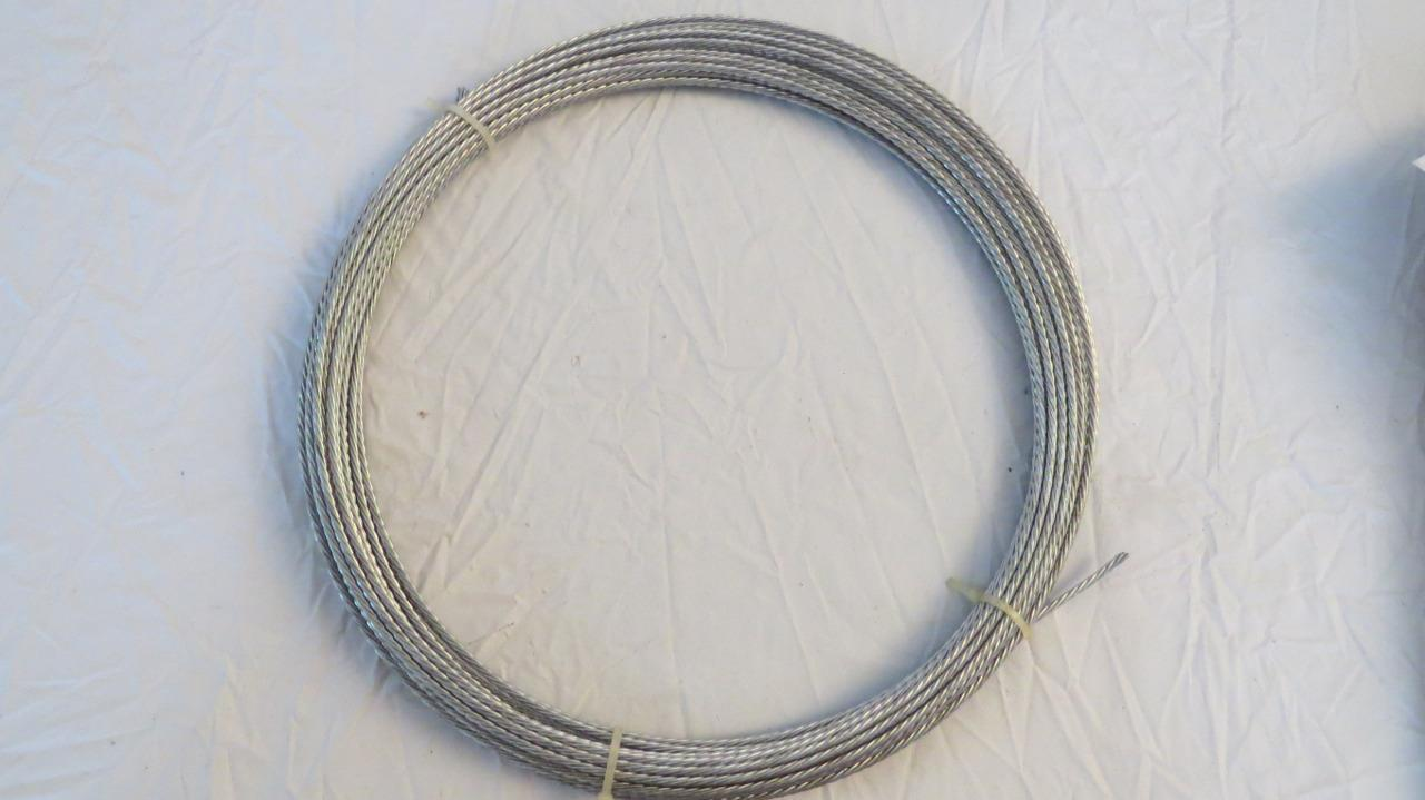 Channel Master 50' Steel Guy Wire 20 AWG/6 Strand Galvanized Antenna Mast Cable. Available Now for 7.40