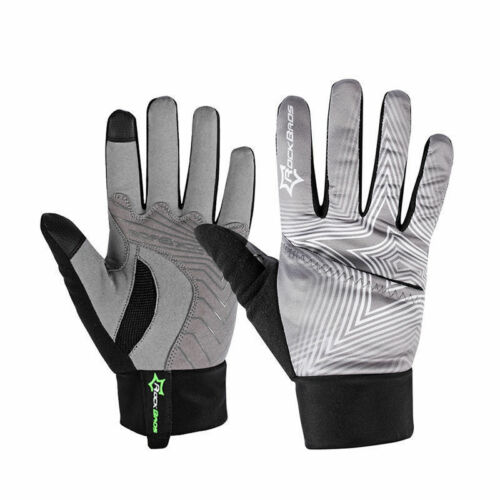 RockBros Cycling Full Finger Fleece Thermal Windproof Touch Screen Gloves
