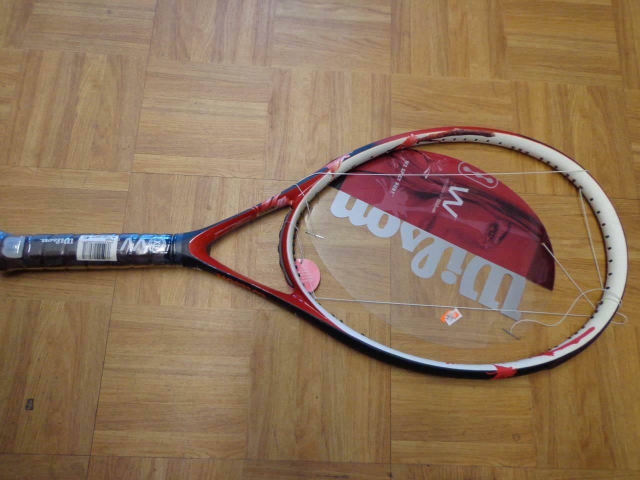 NEW Wilson W2 Spicy Ruby 117 head head 4 1 2 grip Tennis Racquet