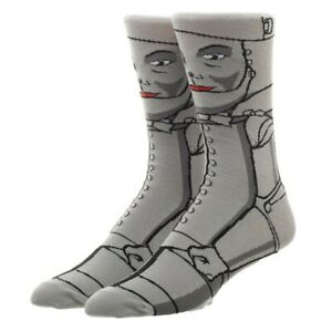 The-Wizard-Of-Oz-Tin-Man-Bioworld-Crew-Socks-Mens-8-12-Unisex-Adult-Retro-Tinman