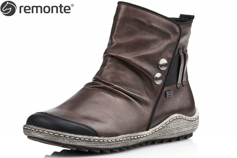 Remonte Damen Stiefel Dunkelbraun Schuhe Stiefel Leder R1493-45