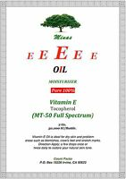Vitamin E Oil 30,000 Iu 2 Oz Softens Skin Moisturizes Natural Tocopherols Mt-50