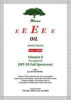 Organic Pure Vitamin E Oil 2 Oz Full Spect 30,000 Iu Moisturizer Anti Aging Pure