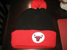 MENS CHICAGO BULLS Mitchell & Ness Winter BEANIE HAT BLACK/RED/WHITE  NWT