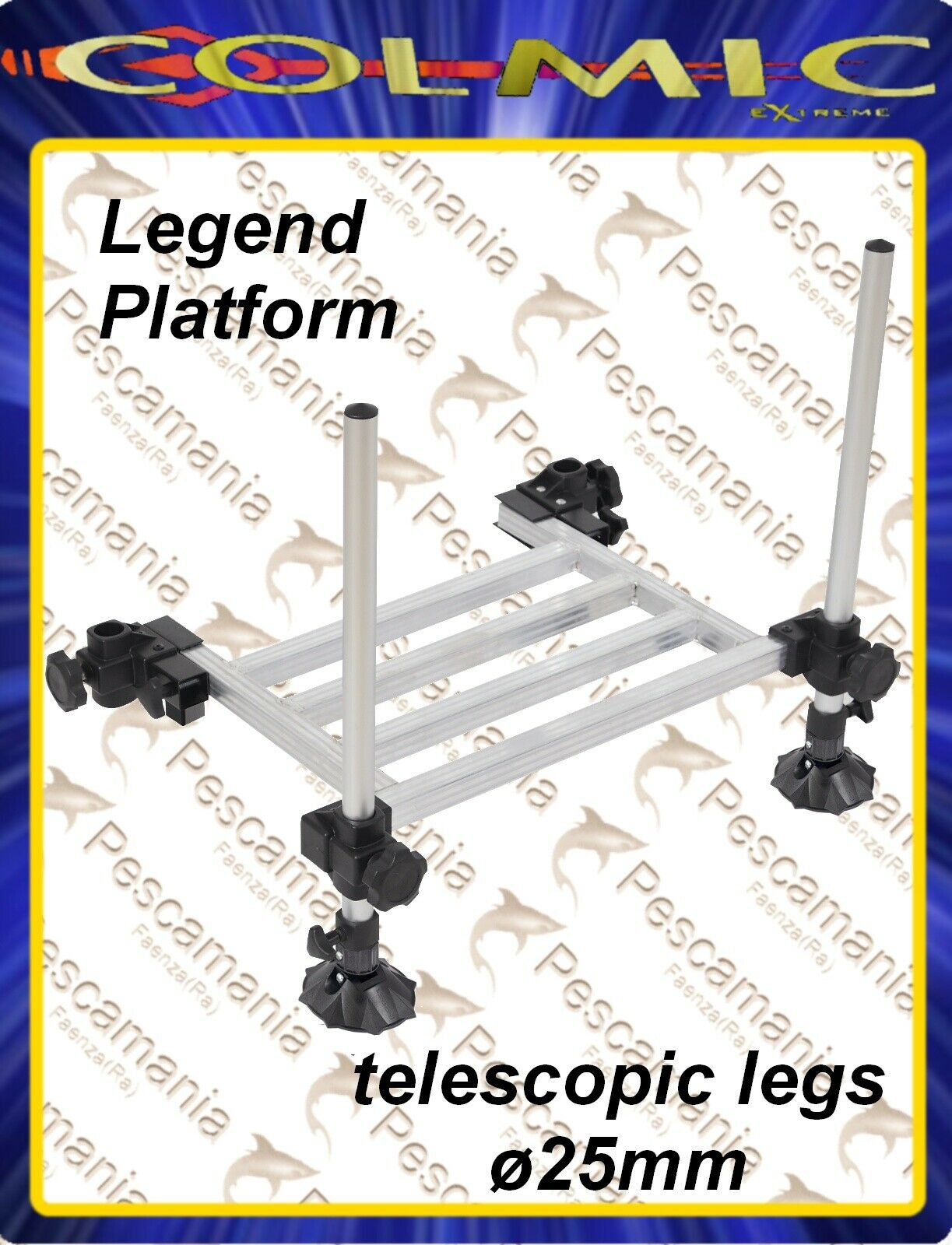 Aluminum step for fishing basket legend series colmic platform