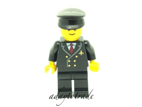 Airplane Pilot Red Tie 6 Buttons AIR024 R908 LEGO City//Town Mini Figure