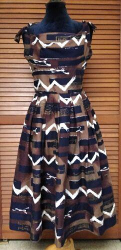 Vintage 50s Alfred Shaheen Surf n Sand Dress Tiki