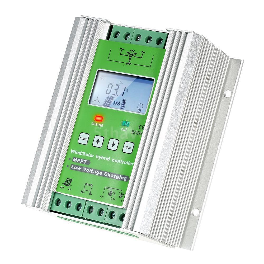 LCD Wind Solar Hybrid Laderegler MPPT Schnellade 12 / 24V Auto-Beleuchtung N2Y9