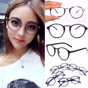 9e87e6c5994f Image is loading Vintage-Clear-Lens-Eyeglasses-Frame-Retro-Round-Men-