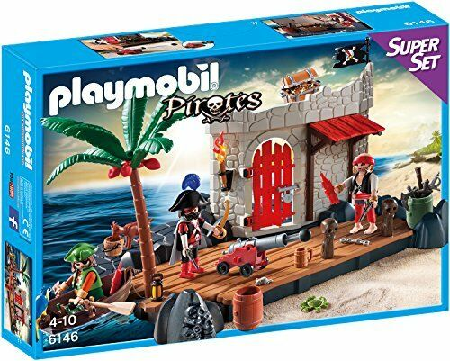 Kinder PLAYMOBIL  Super Set Piratenfestung Best Mini Figuren Spielzeug für Sp...