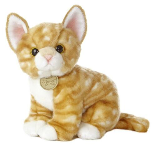 "L@@K Aurora Orange Tabby Kitten 10/"" 26154 Cat Stuffed Animal Soft Toy Global NEW"