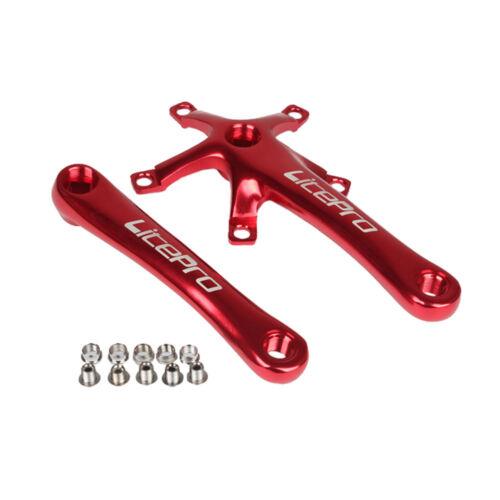 BCD 130mm Aluminum Bicycle Crankset MTB Road Bike170mm Crank Arm Square Crankset